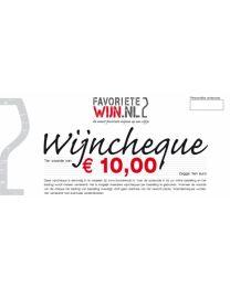 Wijncheque €10,00