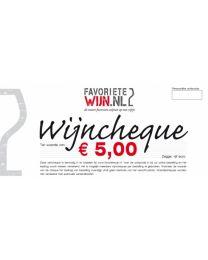 Wijncheque €5,00