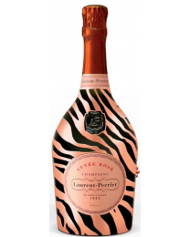 Laurent Perrier Cuvée Rosé Brut Limited Edition Metal Jacket Zebra